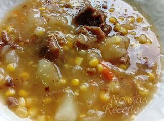 receita de como fazer sopa de carne com legumes cremosa simples