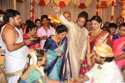 arjun-sarja-at-meghana-chiru-wedding