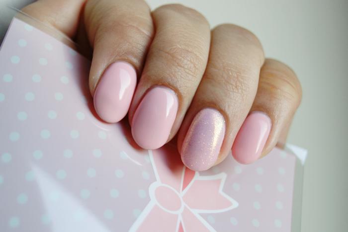 SEMILAC 047 Pink Peach Milk - pastelowy róż ślubne paznokcie