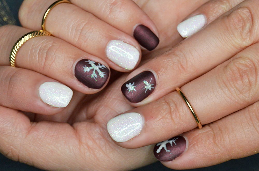 xmas nails, winter nails, realac, eveline