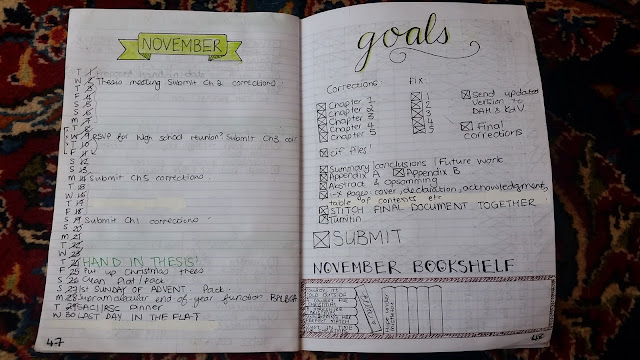 bullet journal monthly log goals traditional
