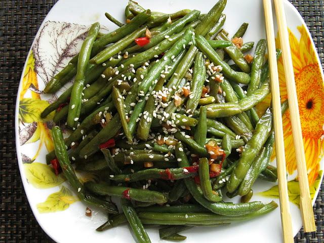 Жареная стручковая фасоль по-китайски