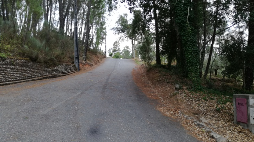 estrada de acesso á praia fluvial