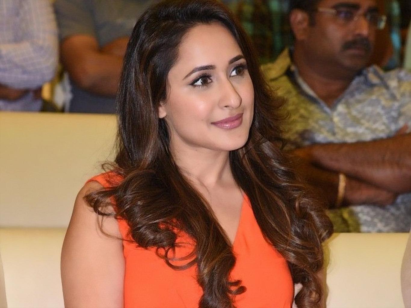 Pragya Jaiswal Hot Orange Dress HD Wallpaper