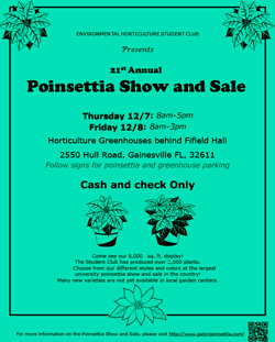 Poinsettia Show and Sale