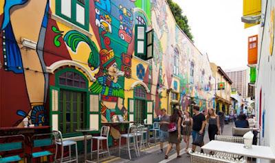 Khu Haji Lane đầy màu sắc ở Kampong Glam.