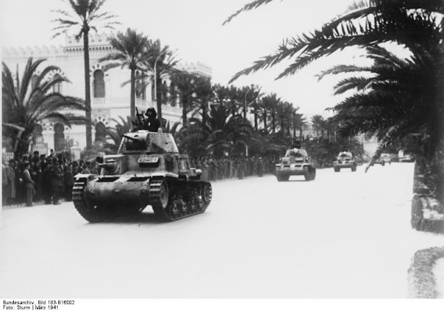 12 March 1941 worldwartwo.filminspector.com Italian M13/40 tanks Tripoli