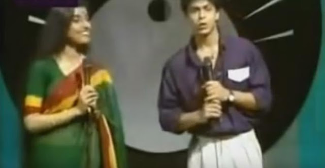 After dishing out young Madhuri Dixit from its archives, Doordarshan has thrown light on early Shahrukh Khan.  A video showing Shahrukh Khan, close to his mid-20s, anchoring a music show and long way from his rise to super-stardom has gone viral.  Shahrukh Khan was active in television for three years between 1988 and 1990; the video was probably shot in late 1989 or 1990.
