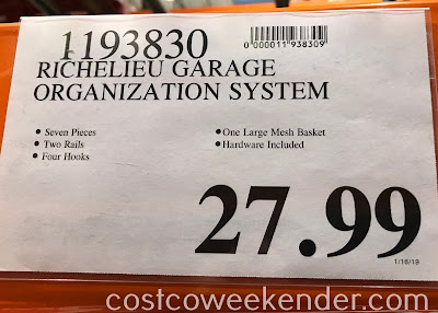 Deal for the Richelieu Garage Organization System at Costco