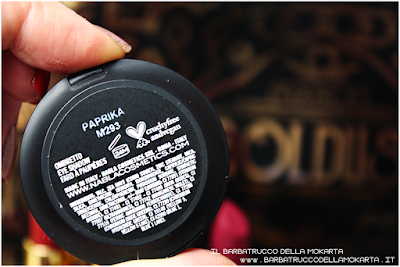 PAPRIKA  recensione eyeshadow ombretto  goldust collection Nabla cosmetics