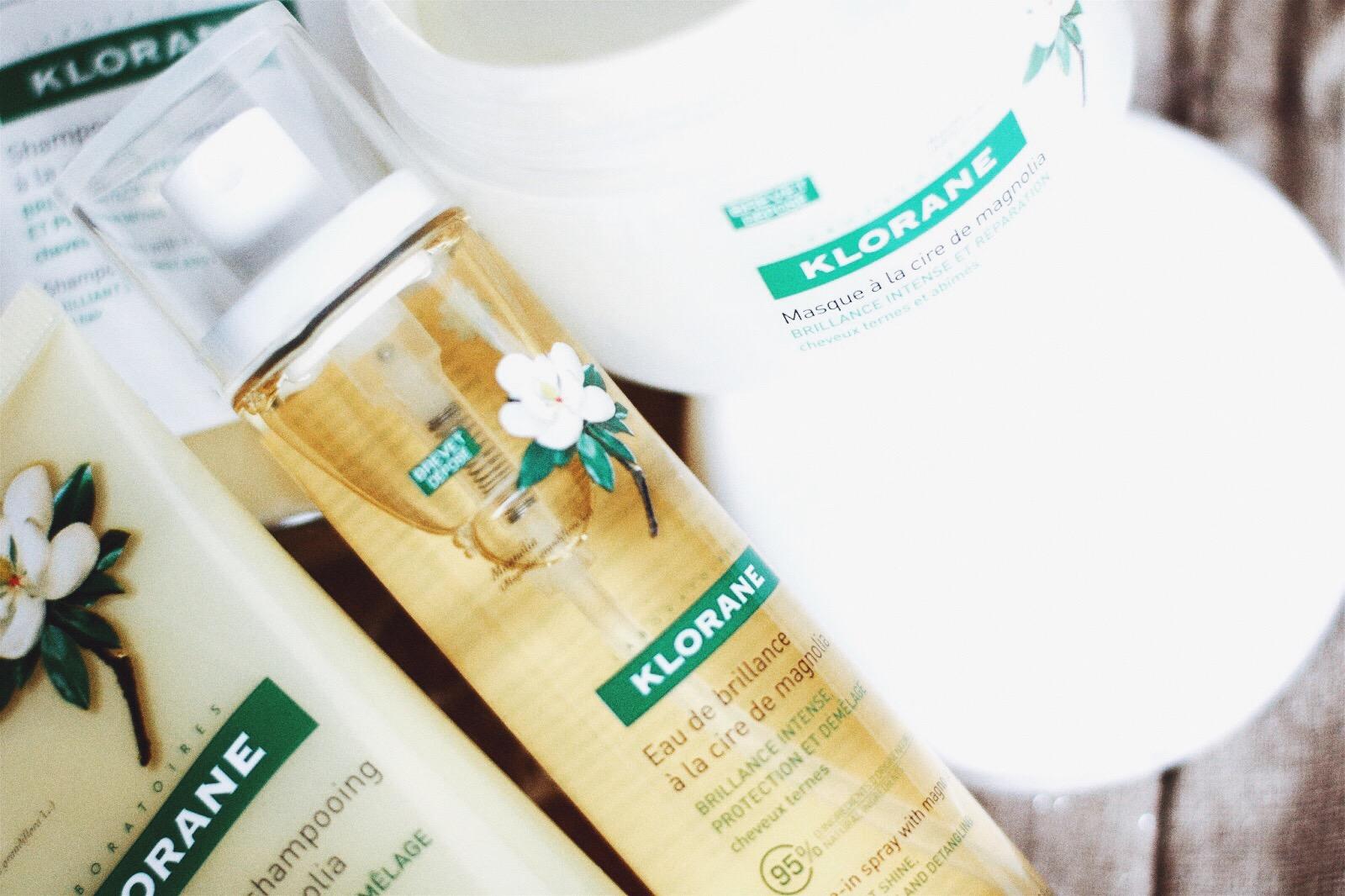 klorane soins cheveux à magnolia brillance pour les cheveux ternes