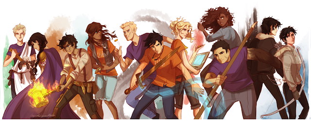 Resultado de imagen para fan art heroes of olympus the seven