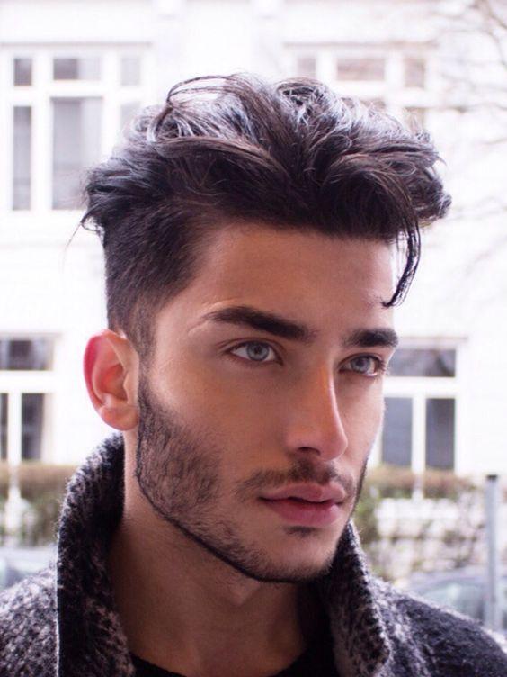 cortes de pelo corto para hombres con barba invierno with corte de pelo de moda para hombres