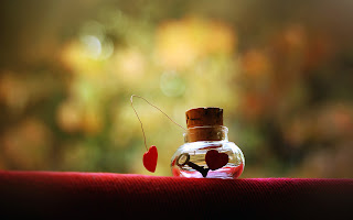 heart locked in a glass jar of love - Artistic Love Photography