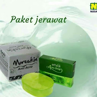 Jual Paket jerawat moreskin anti acne + sabun erhsali acne
