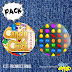 Kit de bottons - Candy Crush