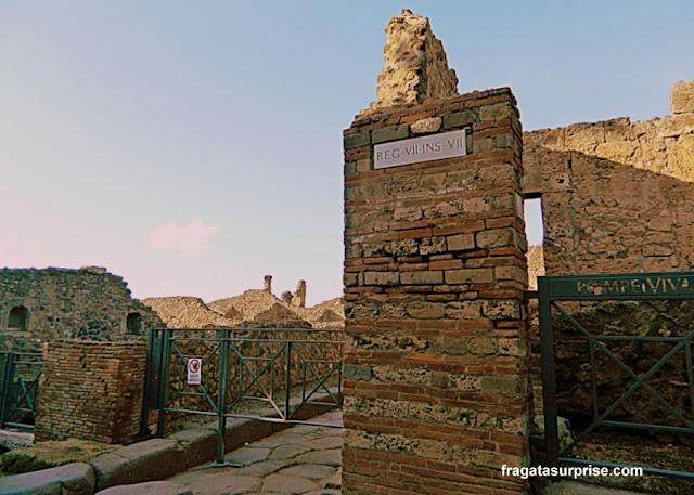 Rua do Sítio Arqueológico de Pompeia