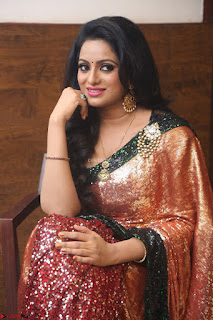 Udaya Bhanu lookssizzling in a Saree Choli at Gautam Nanda music launchi ~ Exclusive Celebrities Galleries 004.JPG