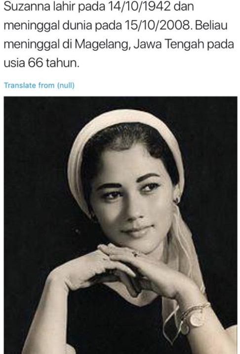 Kisah Kematian Pelakon Sundel Bolong Paling Angker, Suzanna Yang Penuh Misteri