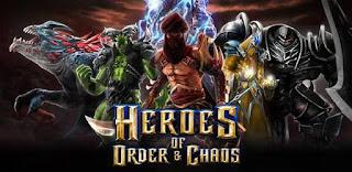 Heroes of order and chaos, game buatan gameloft ini sudah menjadi game terbaik dalam genre moba, game ini juga merubakan game moba pertama