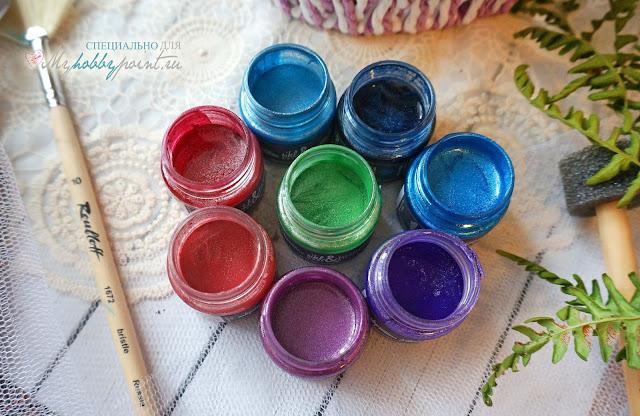 бриллиантовые акриловые краски BRILLIANTS & SILK ШЕЛК И БРИЛЛИАНТЫ. Это игра шампанского в цвете! Богатая палитра, потрясающая текстура, волнительные переливы.