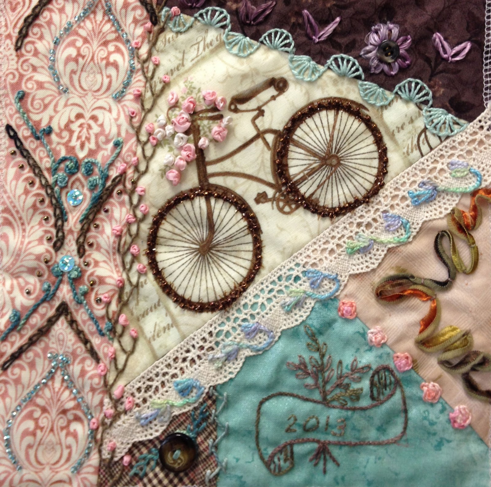 Shop Ravelings Going Crazy With Crazy Quilt Stitches