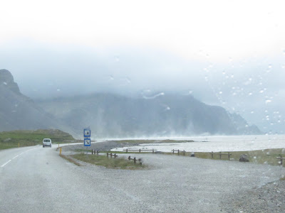 Wind Blowing in the East Fjords, Iceland