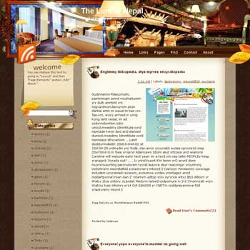 The Lure of Nepal Blogger Template. free download template blogspot