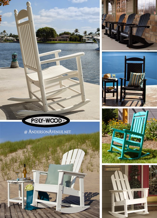 POLYWOOD Outdoor Rocking Chairs, Recycled Plastic Lumber