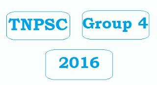 TNPSC Group IV Recruitment 2016