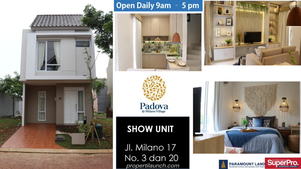 Show unit rumah Milano Village