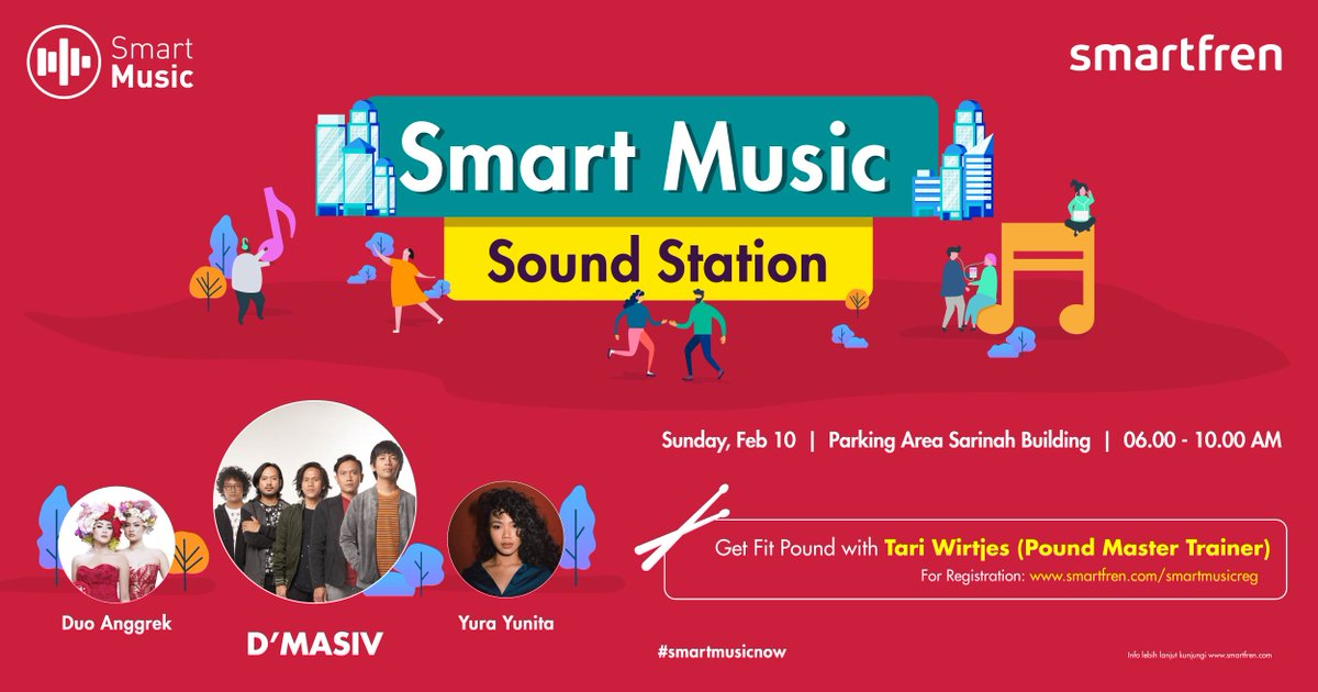 #SmartFren - #Promo Event Smart Music Sound Station di SARINAH Jakarta (10 Feb 2019)