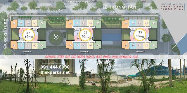 Mặt bằng thiết kế chung cư The K Park Văn Phú