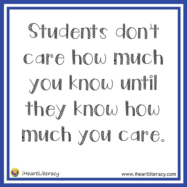 Students don't care how much you know until they know how much you care. #teacherinspiration