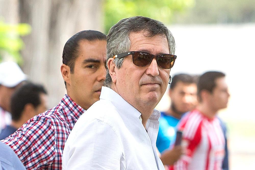 El propietario del Guadalajara, Jorge Vergara