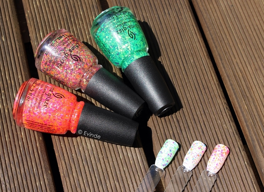 China Glaze Electric Nights neon glitter toppers