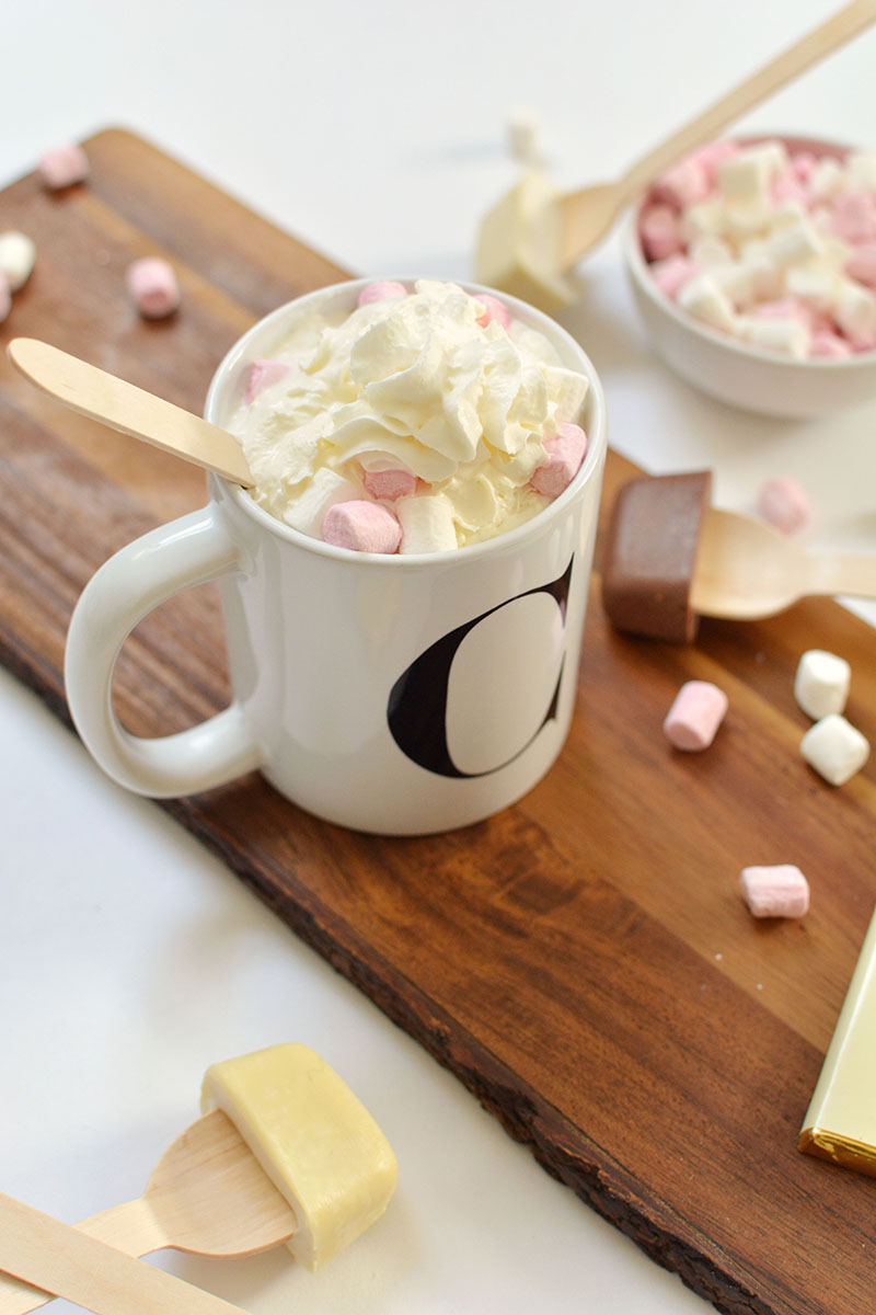 hot chocolate spoon DIY idea