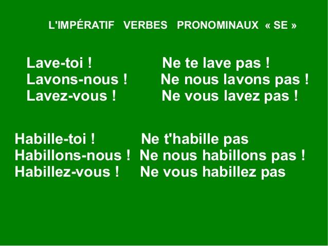 Tryb rozkazujacy - tryb rozkazujący z czasownikami zwrotnymi - Francuski przy kawie