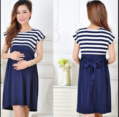 Dress pendek paling populer untuk wanita hamil