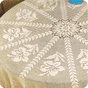 Mantel Redondo con flores a Crochet