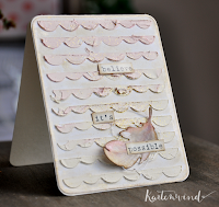Kartenwind : believe its possible card #kartenwind #karte #strukturpaste #texturepaste #feather #feder #spellbinders #diecutting #studiocalico