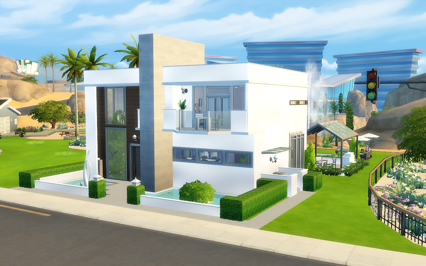 House 24 the sims 4 via sims for Casas modernas sims 4 paso a paso