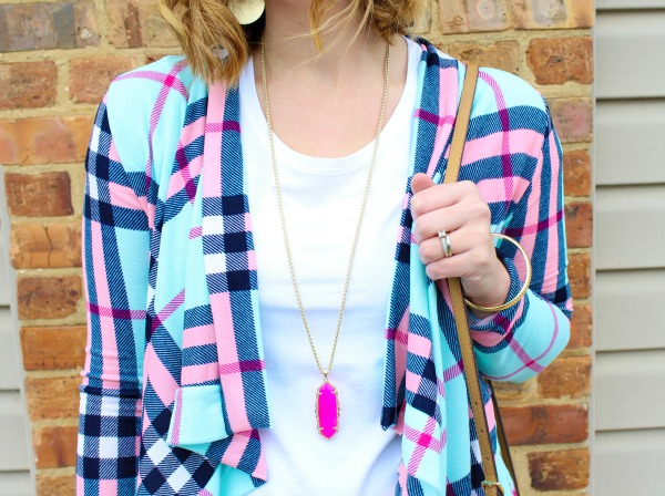 nella boutique, spring style, collaboration, plaid cardigan