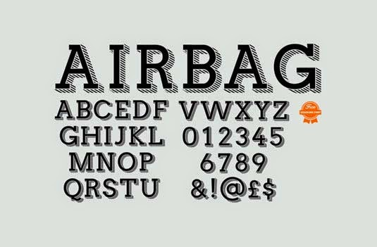 Airbag font