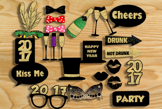http://www.mypartygames.com/free-printable-new-year-2017-photo-booth-props/
