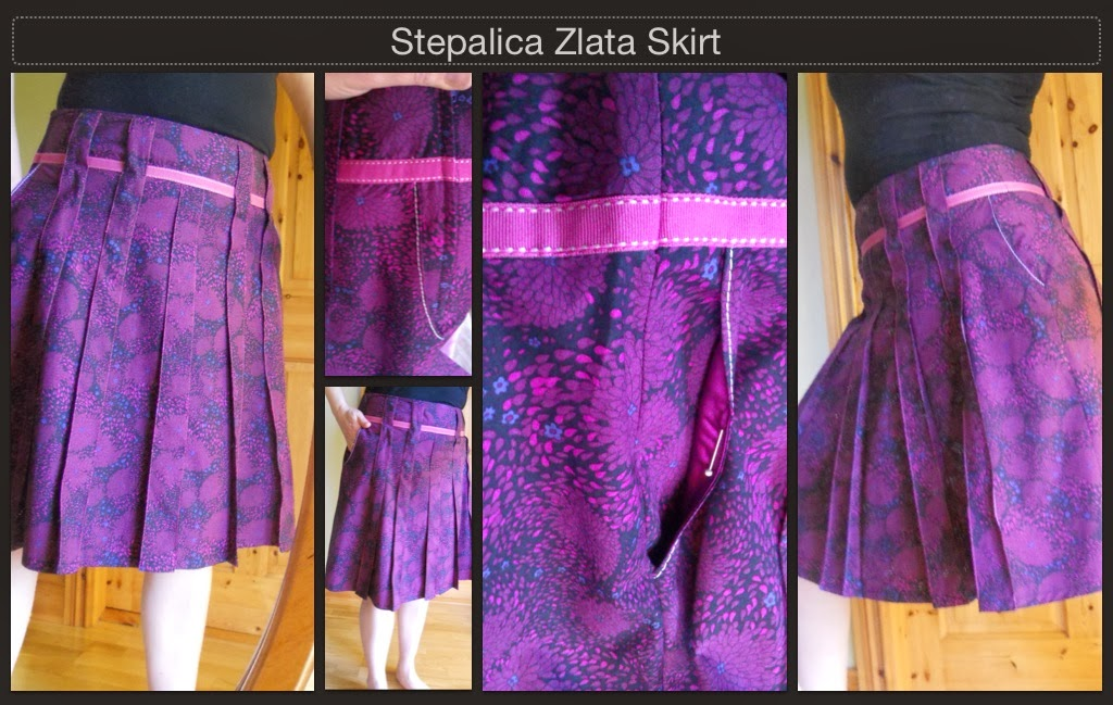 Stepalica Patterns: Zlata skirt - testing the pattern, Angela