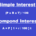 Formulae of Simple and Compound Interest | Compounded quarterly, half-yearly , monthly and yearly