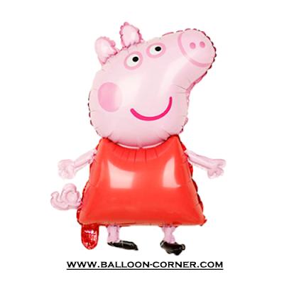 Balon Foil Karakter Peppa Pig Pink