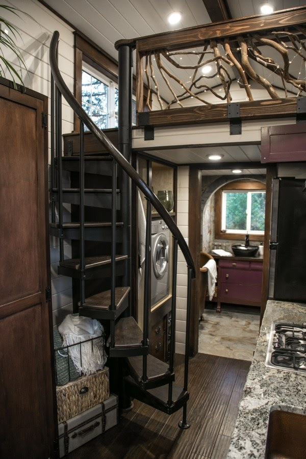 08-Spiral-Staircase-to-Master-Bedroom-Tiny-Heirloom-Tudor-Style-Tiny-House-on-Wheels-www-designstack-co