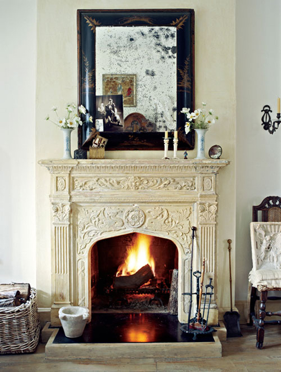 Impressive fireplace via Country Home magazine